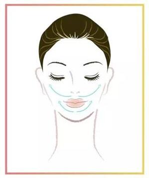 Massage vùng má theo hình